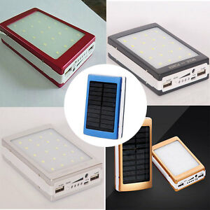 Outdoor-Camping-LED-Light-Solar-Panel-Power-Bank-Charger-Case-DIY-Kits-Set
