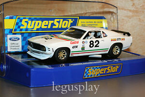 Slot Scx Scalextric Superslot H3538 Ford MUSTANG 1969 Boss 302 GTX Nº 82 - New