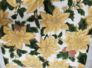 Details About Peva Vinyl Tablecloth 52 X 70 Oblong Seats 4 6 Ppl Winter Yellow Flowers Bh