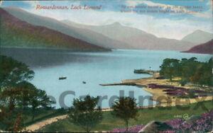 ROWARDENNAN-Loch-Lomand-Postcard-nr-Drymen-STIRLINGSHIRE-Valentine-039-s-Co