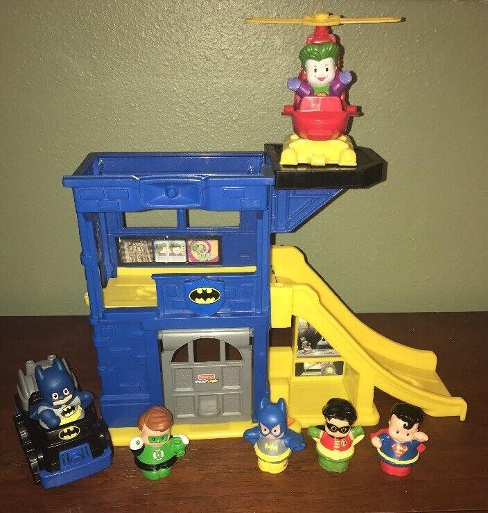 fiskare pris liten människor Batman Batmobile Batcave DC Robin Superman Joker