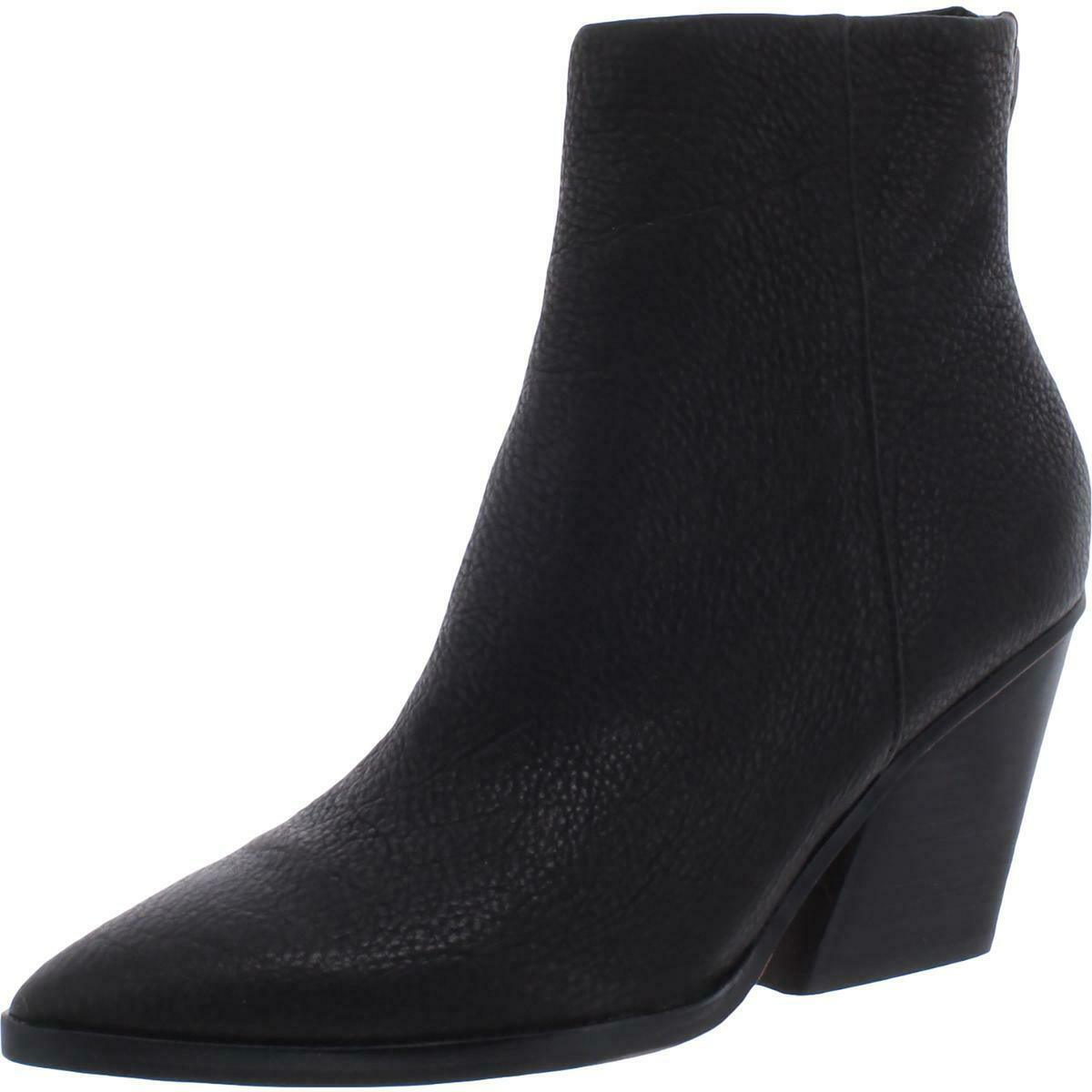 Dolce Vita Womens Issa Leather Heels Ankle Boots Shoes BHFO 0087