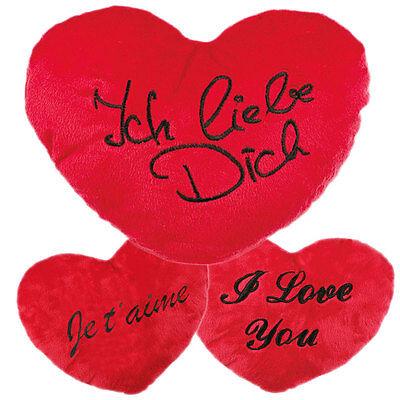 Plüschkissen Kissenherz Herzkissen verschiedene Größen Herz Kissen