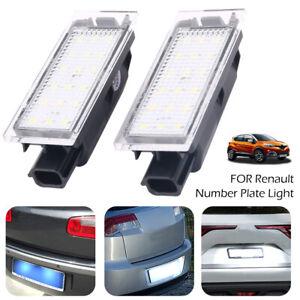2-18pcs-LED-Eclairage-plaque-immatriculation-pour-Renault-Clio-Laguna-Megane-C3