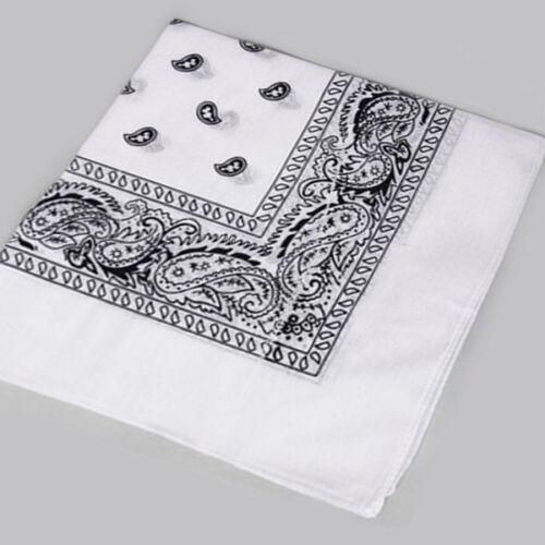 50*50Cm Large Square Paisley Cotton Kerchief Sports Bandana Headwear Fashion Hot
