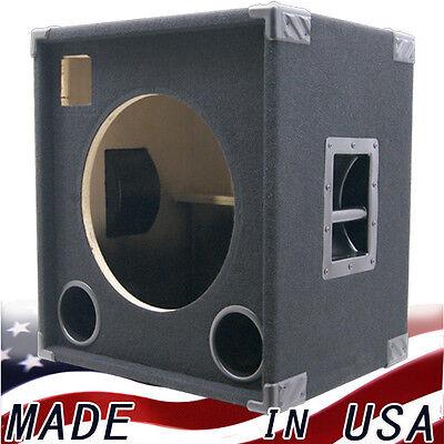 1x15 withtweeter empty bass guitar speaker cabinet black carpet bg1x1523h ebay. Black Bedroom Furniture Sets. Home Design Ideas