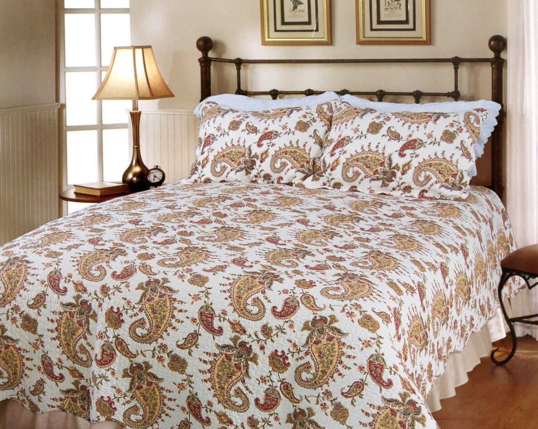 Peace of Mind 100% Cotton Quilt Set, Bedspread, Coverlet