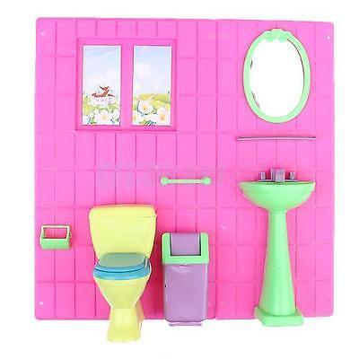 Fashion DOLL FURNITURE Bathroom Wash Toilet for barbie
