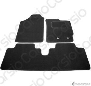 Toyota-Yaris-2006-to-2011-Fully-Tailored-Black-Car-Floor-Mats-Carpets-3pc-Set