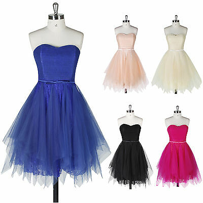 Short Mini Homecoming Evening Cocktail Party Prom Dress Bridesmaid Formal Gowns