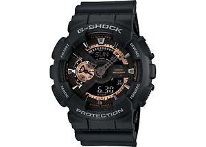 Casio-G-Shock-Black-Stealth-Anadigi-Black-x-Rose-Gold-x-Gray-Accents-Watch