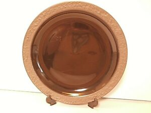 Sango-Rustic-Charcoal-Cop-Plate-Round-Platter-Black-Brown-Trim-12-034-Nice