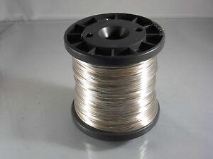 100Meter-Silberdraht-1-mm-Basteldraht-Kupferkern-Silver-Plated-Copper-Wire-1-0mm