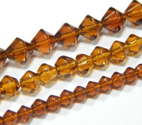 Glas Perlen set 4//6//8 mm 3 Strange Doppelkegel Schmuckherstellung Wahlen