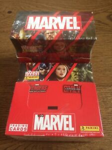 Panini-Marvel-Trading-Cards-X2-Box-of-36-sealed-That-039-s-72-Packets-New