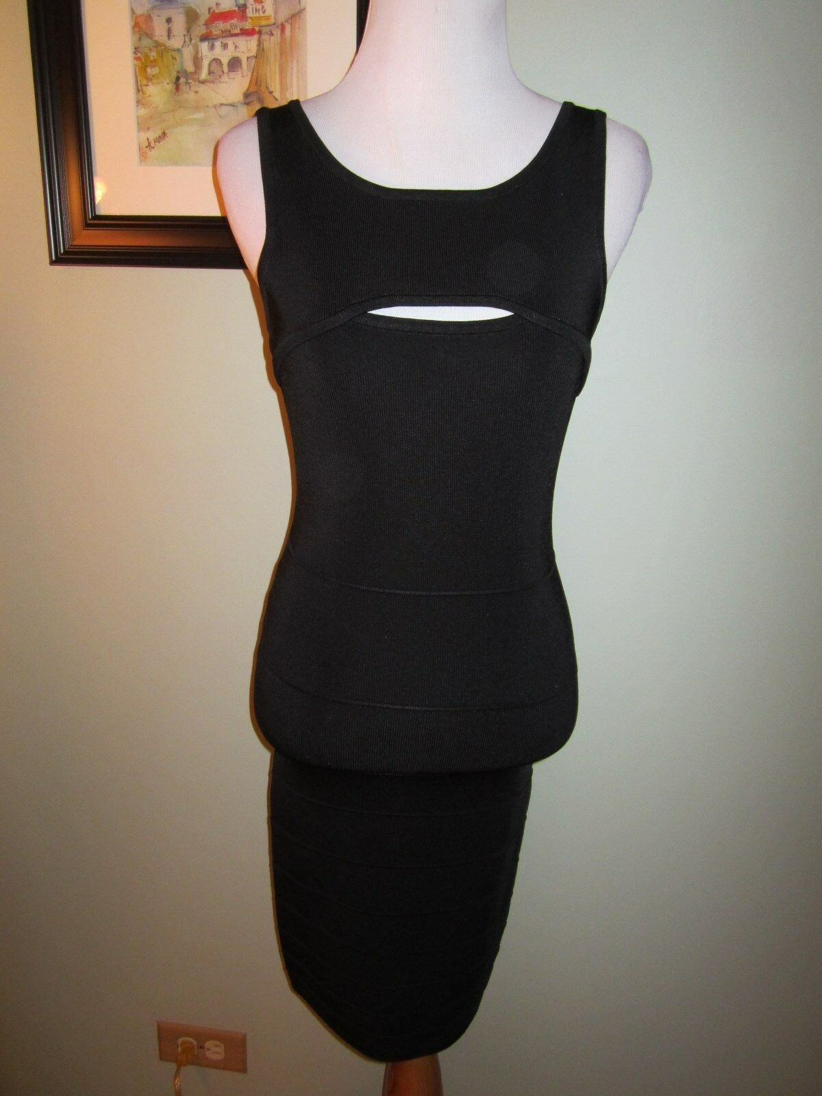 Guess by Marciano schwarz Sleeveless Stretch Bandage Bodycon Dress Größe S