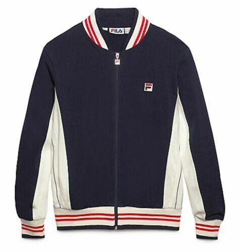 Fila Retro Bjorn Borg Vintage wolleBlend Tennis jacke Größe XXL 2XL