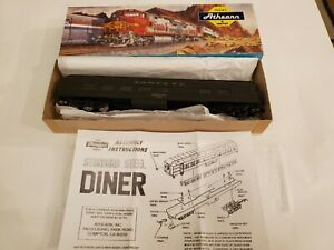 Vintage-Athearn-Model-Train-in-Box-HO-1891-STD-Diner-Santa-Fe
