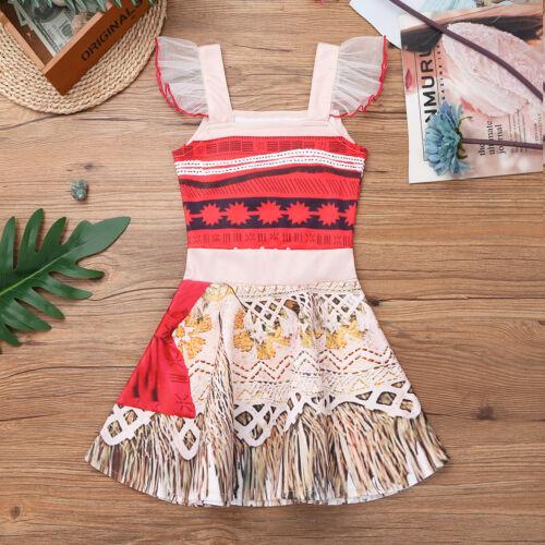 Kid Baby Girls Halloween Costume Hawaiian Princess Cosplay Party Fancy Dress