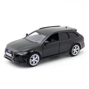 1-36-AUDI-RS-6-Avant-Carro-Coche-Modelo-Juguete-Diecast-Vehiculo-Ninos-Tire-hacia-atras-Negro