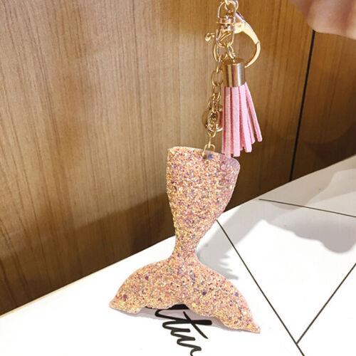 Meerjungfrau Fischschuppen Charm Anhänger Schlüsselanhänger Handtasche Auto CBL