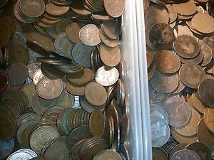 100 Bronze Pièces Britanniques Pennies puants liards très vieux mixt Lot-afficher le titre d`origine