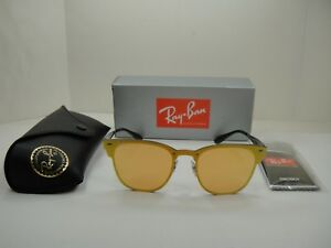ec738f050d Image is loading RAY-BAN-BLAZE-CLUBMASTER-SUNGLASSES-RB3576N-90377J-BLUE-