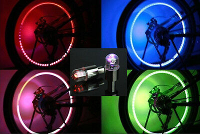 LED Bike Bicycle Car Motorcycle Wheel Valve Stem Cap tire Motion Neon Light lamp