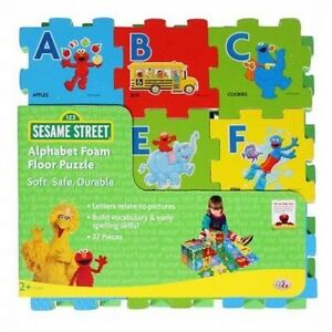 Image Is Loading SESAME STREET 27 Piece Alphabet Foam Floor Puzzle