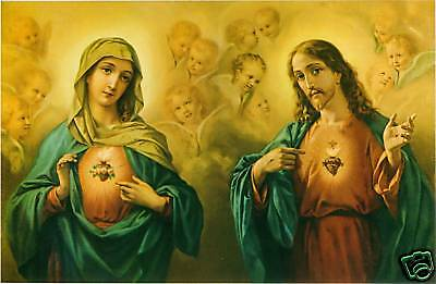 Catholic Print Picture SACRED HEART JESUS and MARY - ready to frame