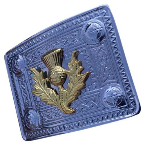 Men/'s Celtic Kilt Belt Buckle Thistle Antique//Chrome//Gold Finish//Celtic Buckles