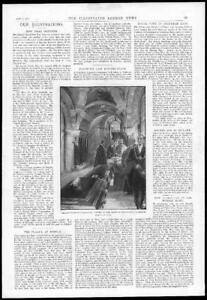 1897-Antique-Print-FRANCE-Pasteur-Institute-Crypt-Amato-Resting-Place-272