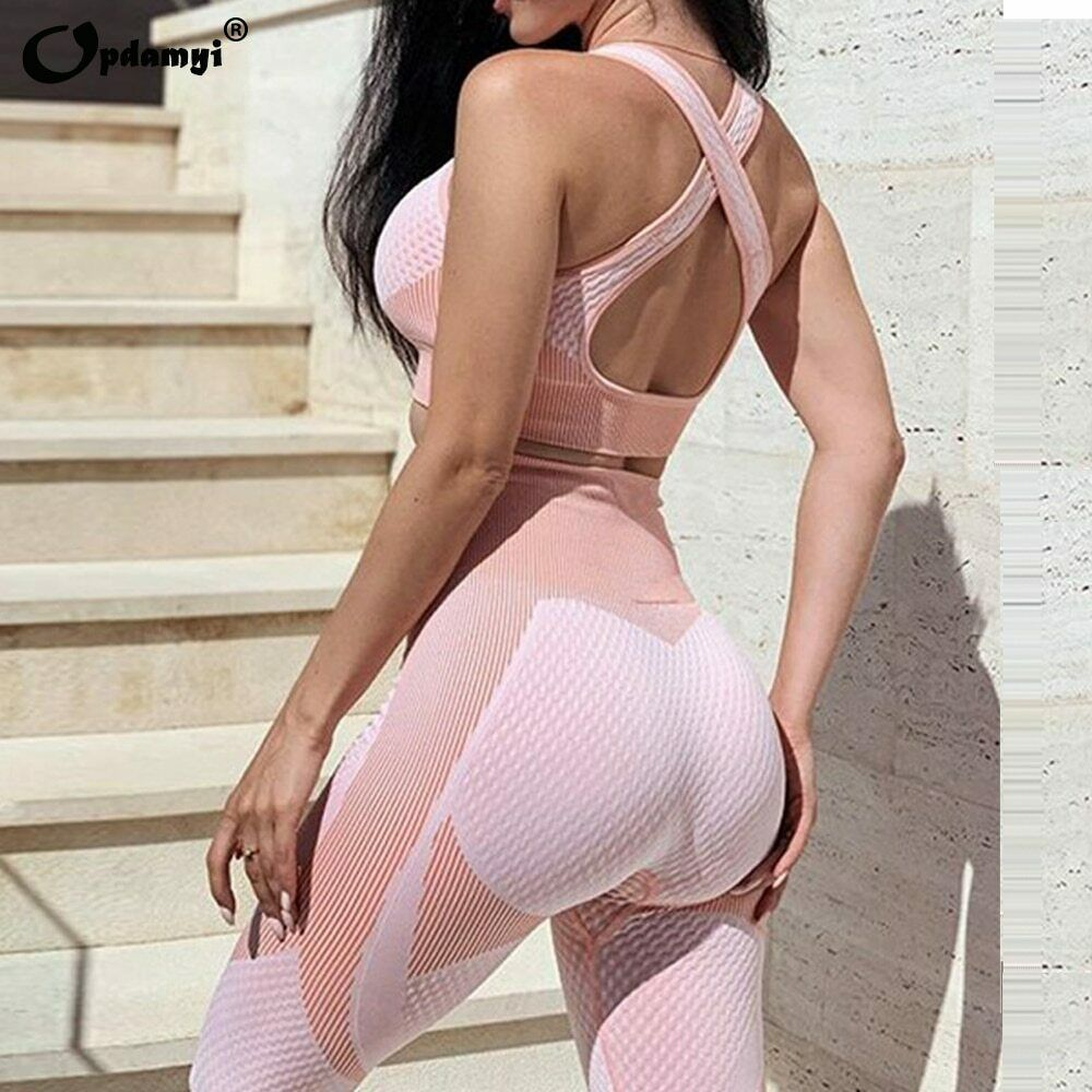 Seamless Workout Yoga Sets Female Sport Gym suit Wear Running Clothes women