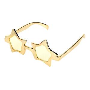 Glitter-Gold-Sterne-Sonnenbrille-Funbrille-Partybrille-Spassbrille