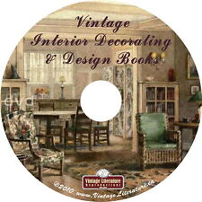 Interior Design and Home Decor { 35 Vintage How - To  Books } on DVD