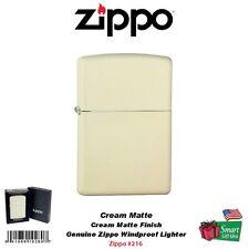 Zippo Cream Matte, Classic, Genuine USA Windproof Pocket Lighter #216