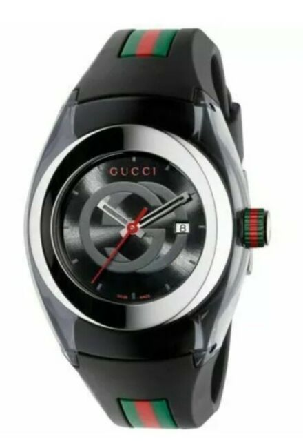 Gucci YA137101  Sync XXL Watch BLACK Silicone Strap