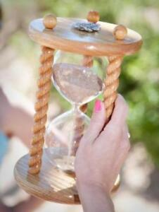 Details about The Acorn Wedding Unity Sand Ceremony Hourglass in Clear Oak  by Heirloom Hourgla