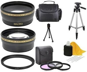 Image Is Loading Accessory Kit Lens Tripod Filters Bag For Canon