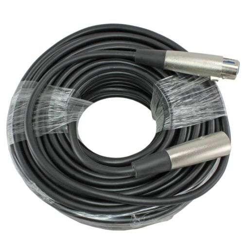 100Ft XLR 3-Pin Male to Female Microphone Audio Mic Shielded Cord Cable
