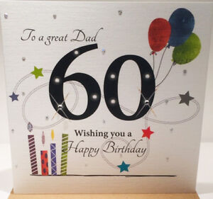 Image Is Loading 60th Birthday Card For Dad 6 X
