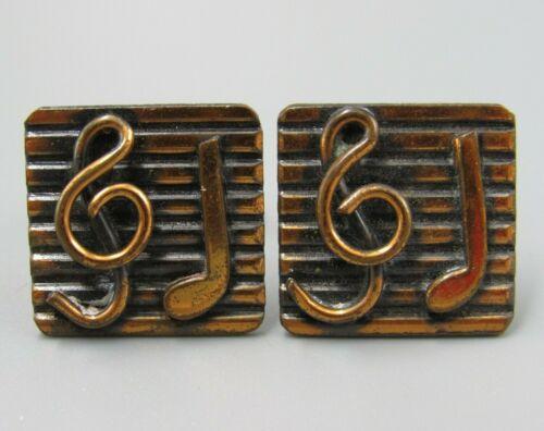 Vintage 1950/'s Bracelet Large Discs With Musical Notes On Them Rockabilly VLV Copper?