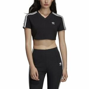 14a7088f3c5a9 Image is loading adidas-Cropped-T-shirt-Black-Women