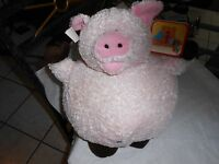 Snuggle Toy Snuggie Plush Round Pig Chunky Chubby Lovey 11 Ball