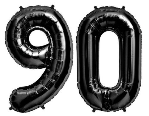 """Giant 34/"""" Mylar Black Number Balloons"""
