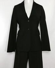 Womens BANANA REPUBLIC Black Pant Suit | Stretch Lined 2 Button Career 2pc (6)