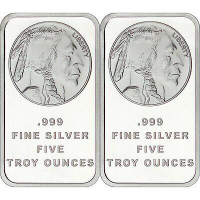American Buffalo Bar by SilverTowne 5oz .999 Silver Bar 3pc