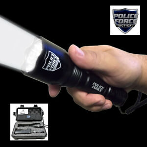 Police Force Tactical L2 LED Flashlight w/ Holster 1000 Lumens Carrying Case