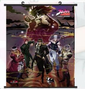 Hot Jojo/'s Bizarre Adventure Group Wall Scroll AnimePoster  Manga  40*60cm