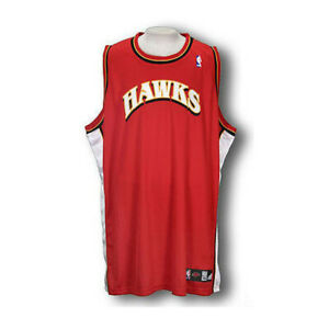 df7f631cc680 Details about Adidas NBA Basketball Men s Atlanta Hawks Authentic Blank  Jersey - Red